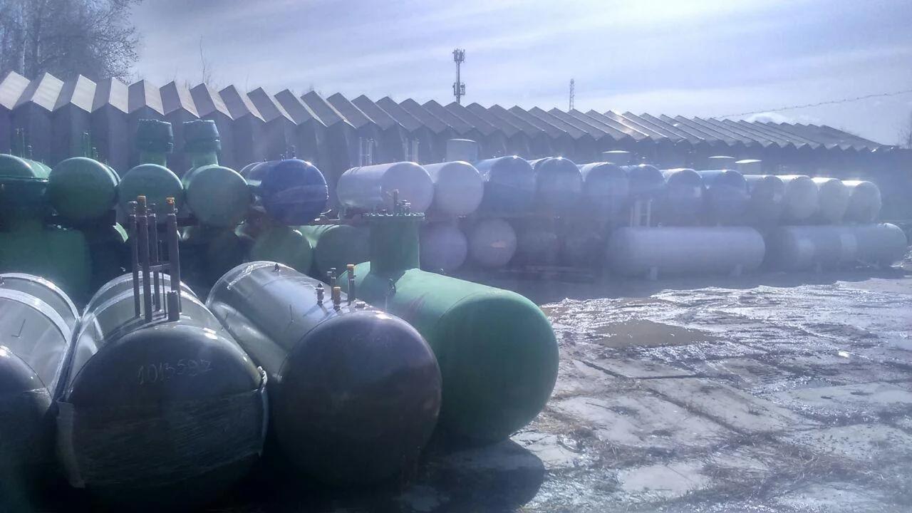 Фото склада газгольдеров в Московской области, п. Лесной