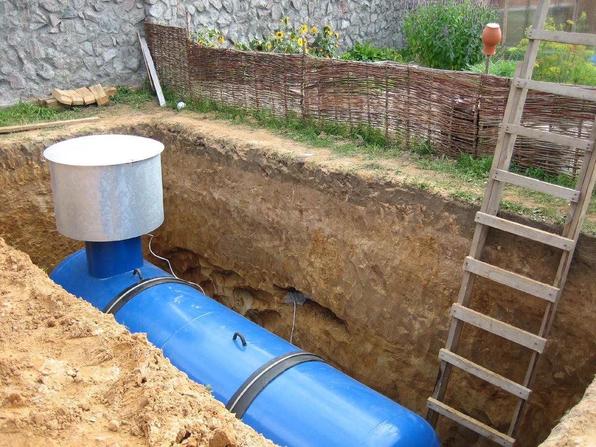 Фото процесса установки газгольдера