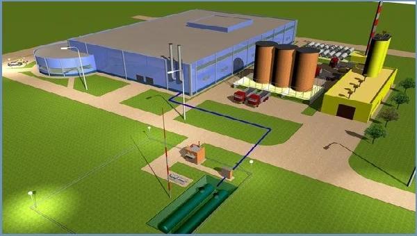 Схематическое изображение групповой резервуарной установки
