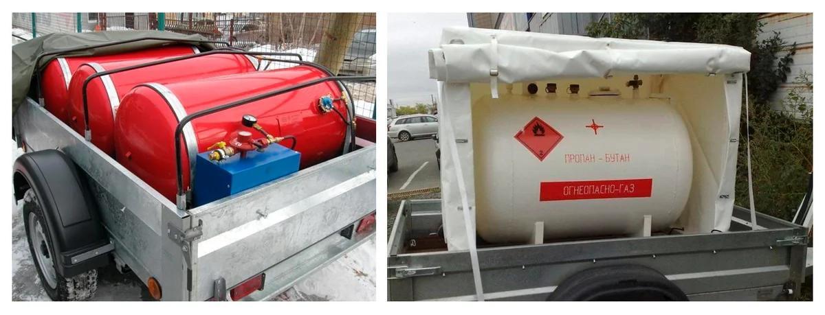 Фото минигазгольдеров: 3х200 литров и 1х600 литров на автоприцепе