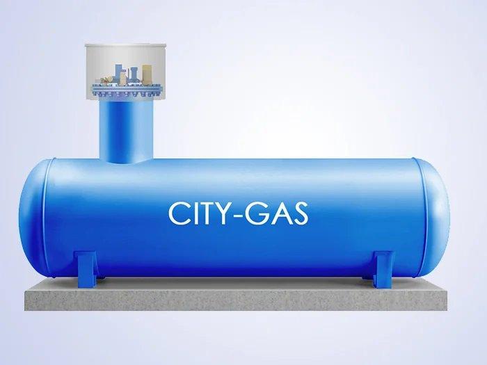 Изображение газгольдера для автономной газификации