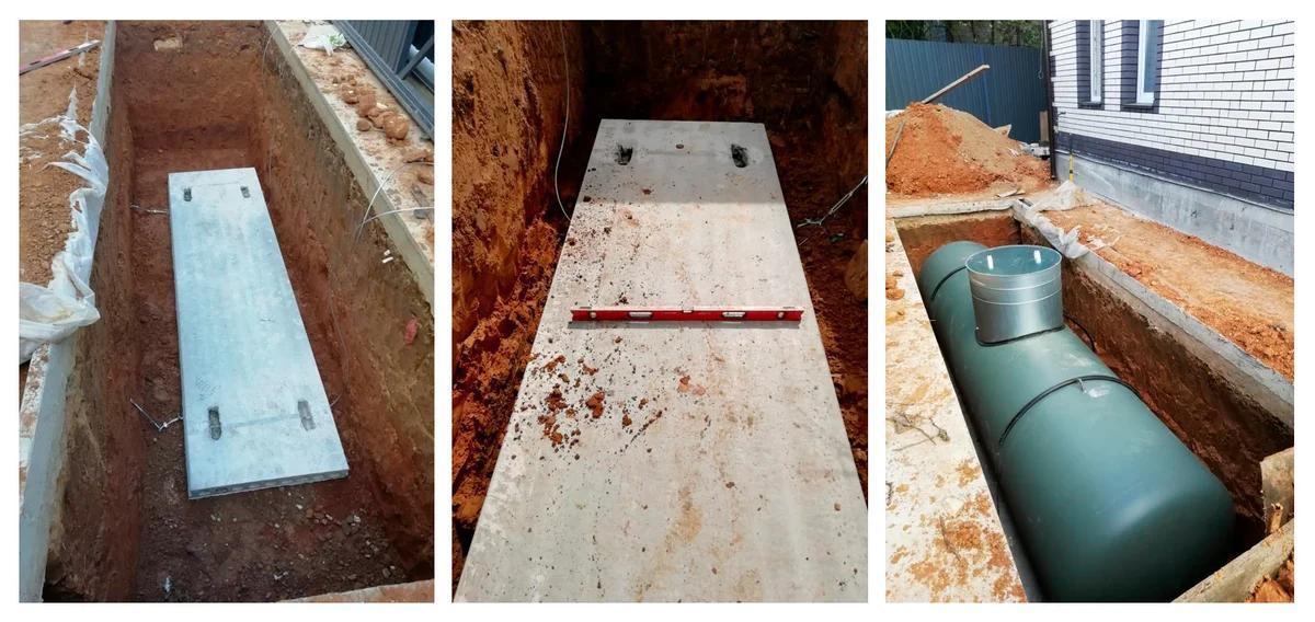 Фото основных этапов земельных работ по монтажу газгольдера