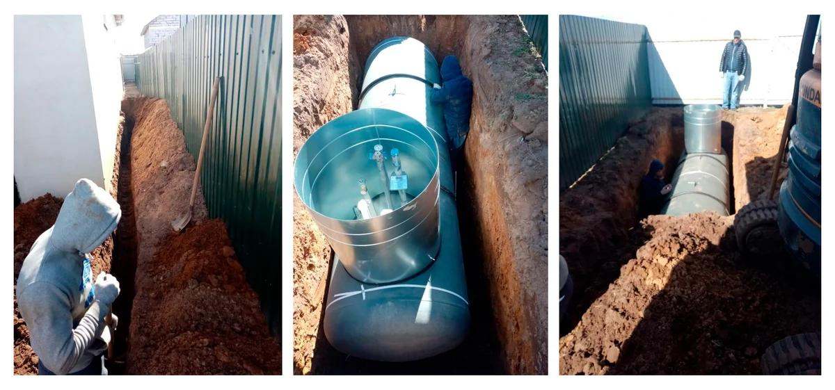 Фото земельных работ для установки газгольдера